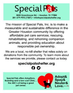 Mission Statement Poster O Special Pals Shelter